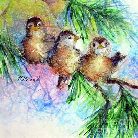 Chickadee Trio by Kathy Braud