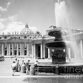 Children playing in the fountain at Vatican City, Rome, 1955 - The Harrington Collection