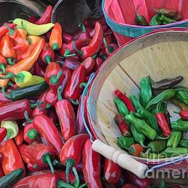 Chillin' with the Chilis - at the Farmers Market by Miriam Danar