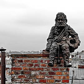 Chimney Sweep, Statue on the Roof by Lyuba Filatova