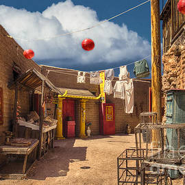 Chinese Alley at Old Tucson by Priscilla Burgers