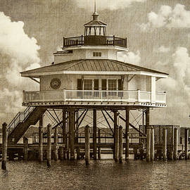 Brian Wallace - Choptank River Lighthouse - Sepia