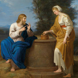 Christ and the Samaritan Woman at the Well - Ferdinand Georg Waldmuller