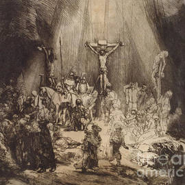 Rembrandt - Christ Crucified between the Two Thieves  The Three Crosses, 1653