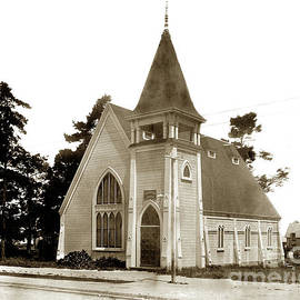Christian Church Pacific Grove circa 1900 by California Views Archives Mr Pat Hathaway Archives