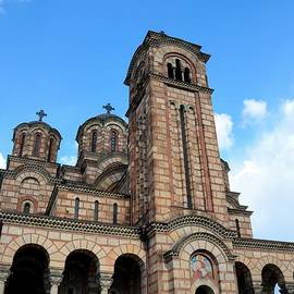 Christian Serbian Orthodox Church of Saint Mark Belgrade Serbia by Imran Ahmed