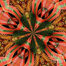 Christmas Decorations Kaleidoscope Abstract 1 by Rose Santuci-Sofranko