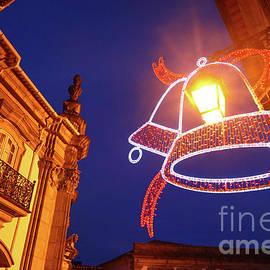 Christmas Lights In Viana Do Castelo Portugal by James Brunker