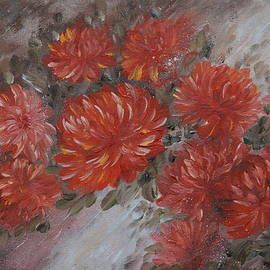 Chrysanthemums On A Wind by M B