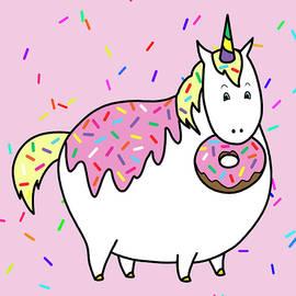 Crista Forest - Chubby Unicorn Eating Sprinkle Doughnut