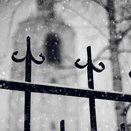 Church Fence. Snowy Days in Moscow by Jenny Rainbow