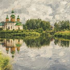 Yury Malkov - Church Landscape 03