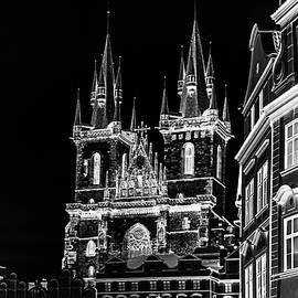 Jenny Rainbow - Church of Our Lady before Tyn. Night Prague