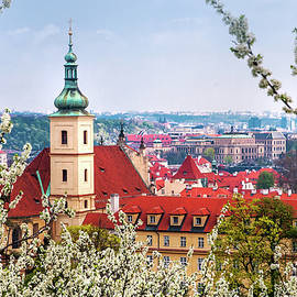 Church Of Our Lady Of Victory And St Nicholas. Spring Prague by Jenny Rainbow