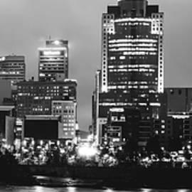 Cincinnati Black and White Night Panorama Skyline