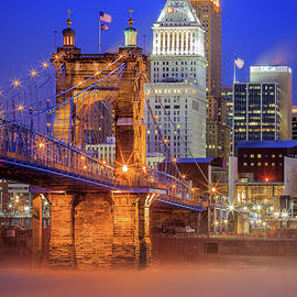 Cincinnati In Blue by Keith Allen