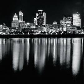 Frozen in Time Fine Art Photography - Cincinnati in Charcoal Panoramic