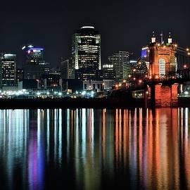 Frozen in Time Fine Art Photography - Cincinnati Lights the Ohio River