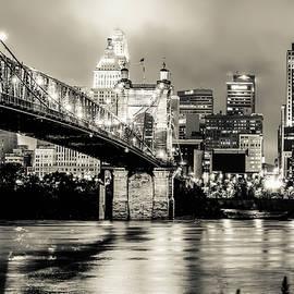 Gregory Ballos - Cincinnati Ohio Skyline Cityscape Downtown - Monochrome