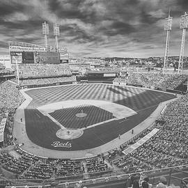 Cincinnati Reds Great American Ballpark Creative 6 Black White by David Haskett II