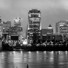 Gregory Ballos - Cincinnati Skyline Art - Ohio River Print - Cityscape Photography Black and White