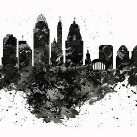 Cincinnati Skyline Black and White by Marian Voicu