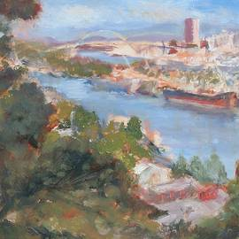 City Aglow, Impression, Late Afternoon, Painting by Quin Sweetman by Quin Sweetman