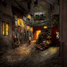 Mike Savad - City - Germany - Alley - Coming home late 1904