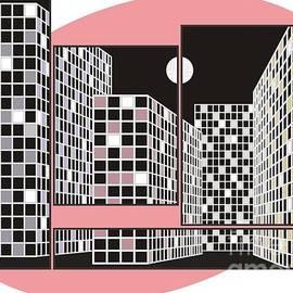 City in the night plexuses by Michael Mirijan