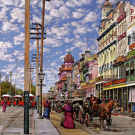 City - New Orleans - New Orleans the Victorian era 1887 by Mike Savad