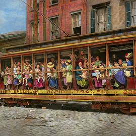 City - New York - Fresh air outing 1913 by Mike Savad