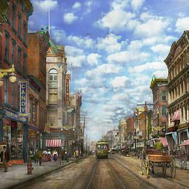 City - NY - Main Street - Poughkeepsie NY - 1906 by Mike Savad