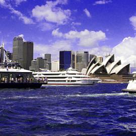 Miroslava Jurcik - City of Sydney and Opera House Surrounded By Blue