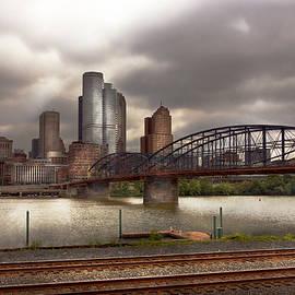 City - Pittsburgh PA - Smithfield Bridge  by Mike Savad