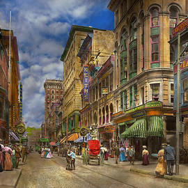 City - Providence RI - Living in the city 1906 by Mike Savad