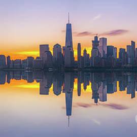 Michael Ver Sprill - City Skyline Reflections Panorama