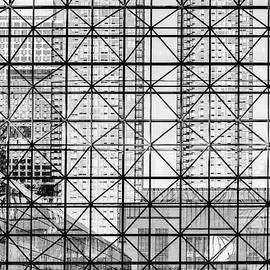 City Windows Abstract Black and White