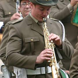 Clarinetist in Lucca Veterans Parade.