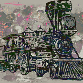 Kim Wang - Classic Steam Train - New Pop Art Poster