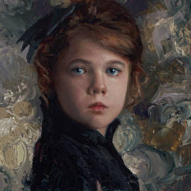 Karen Whitworth - Classical Portrait of Young Girl in Victorian Dress