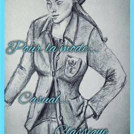Joan-Violet Stretch - Classique Casual Trouser Suit 2
