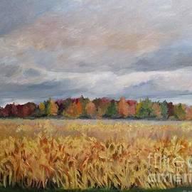 Clayton Cornfields in Autumn by Barbara Moak