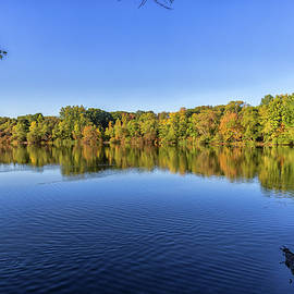 Clear Skies Over Turners Pond In Milton Massachusetts by Brian MacLean