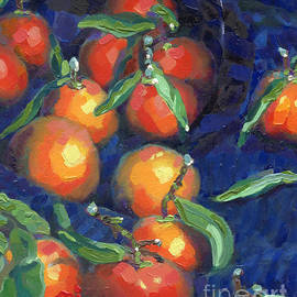 Catherine Considine - Clementines Glass and Blue Cloth