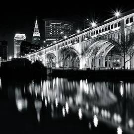 Frozen in Time Fine Art Photography - Cleveland Black and White Reflection