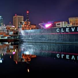 Frozen in Time Fine Art Photography - Cleveland Lakefront Pano Reflection