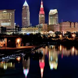 Frozen in Time Fine Art Photography - Cleveland Reflects in the River Below