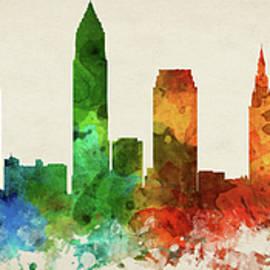 Cleveland Skyline Panorama USOHCL-PA03 - Aged Pixel