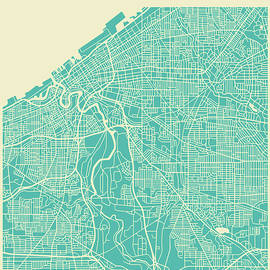 CLEVELAND STREET MAP - Jazzberry Blue