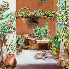Dominique Amendola - Climbing Roses in La Treille Courtyard